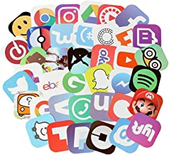 App Stickers for Laptop 50 pcs Social Media Stickers Pack for Your Life (App stickers-1)