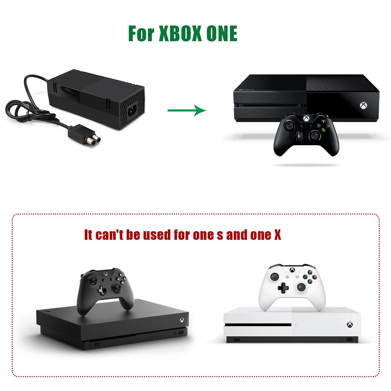 IDESION Fuente de alimentación eléctricade Xbox One Kit de Reemplazo del Cable de CA Adaptador de corriente Bloque de cargador para la consola Xbox Auto Voltaje 100 ...