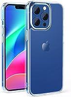 NIMASO 保護殼 iPhone 13 Pro 用 保護套 iPhone13 Pro 適用 鋼化玻璃 半透明 啞光型 防指紋 耐沖擊 帶掛繩孔 防眩光 6.1英寸用 NSC21H311