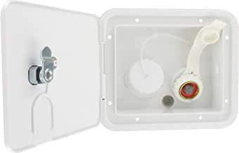 Valterra A01-2000VP Gravity/City Water Inlet Hatch-Brass, White (Carded)