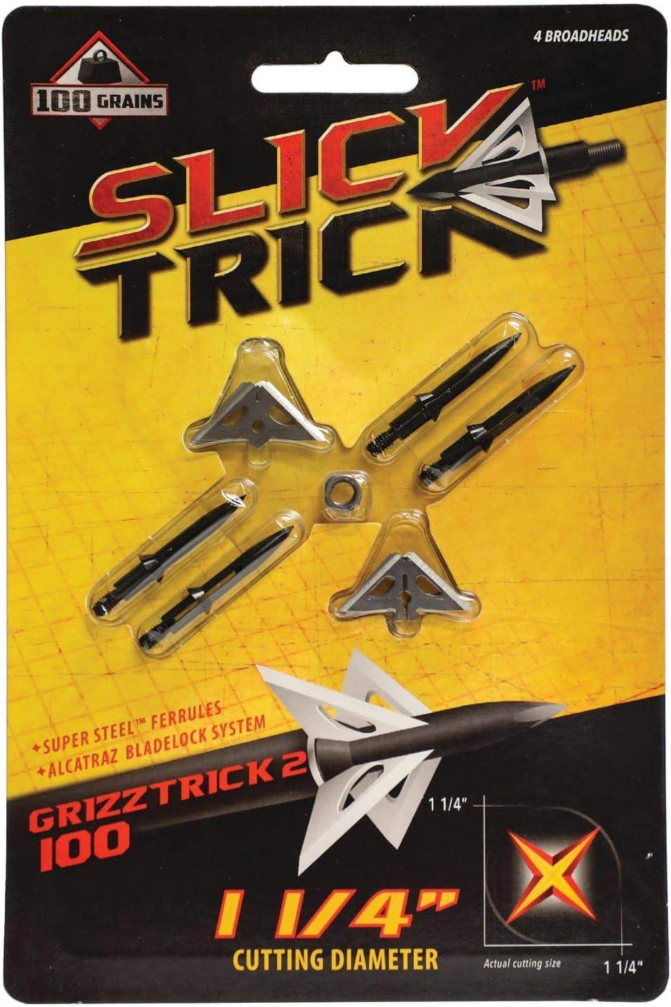 "GrizzTrick 4 Extra Blades 100 grain 1 1//4/"""