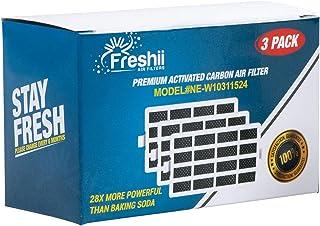 W10311524 Whirlpool Freshflow Refrigerator Air Filter Replacement For Whirlpool Refrigerator & Kitchenaid Refrigerator Air Filter | Fresh Flow Air Filter 3-Pack