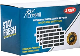 W10311524 Whirlpool Freshflow Refrigerator Air Filter Replacement For Whirlpool Refrigerator & Kitchenaid Refrigerator Air Filter | Fresh Flow Air Filter 3-Pack