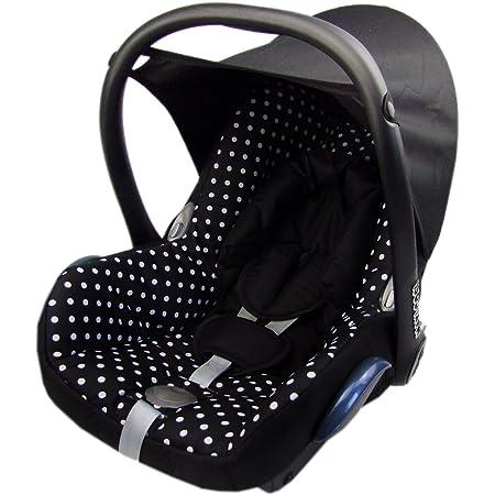 Bambiniwelt Ersatzbezug Für Maxi Cosi Cabriofix 6 Tlg Bezug Für Babyschale Komplett Set Schwarz Weisse Punkte Baby