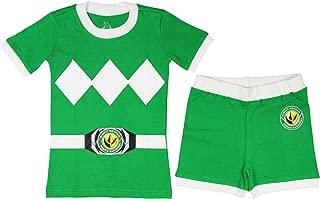 Boys' Green Mighty Morphin Pajama Short Set