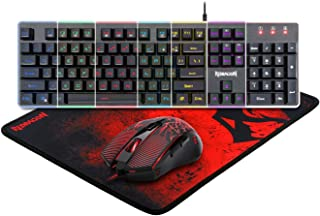 Redragon S107 3 in 1 Gaming Keyboard and Mouse Combo with Mousepad