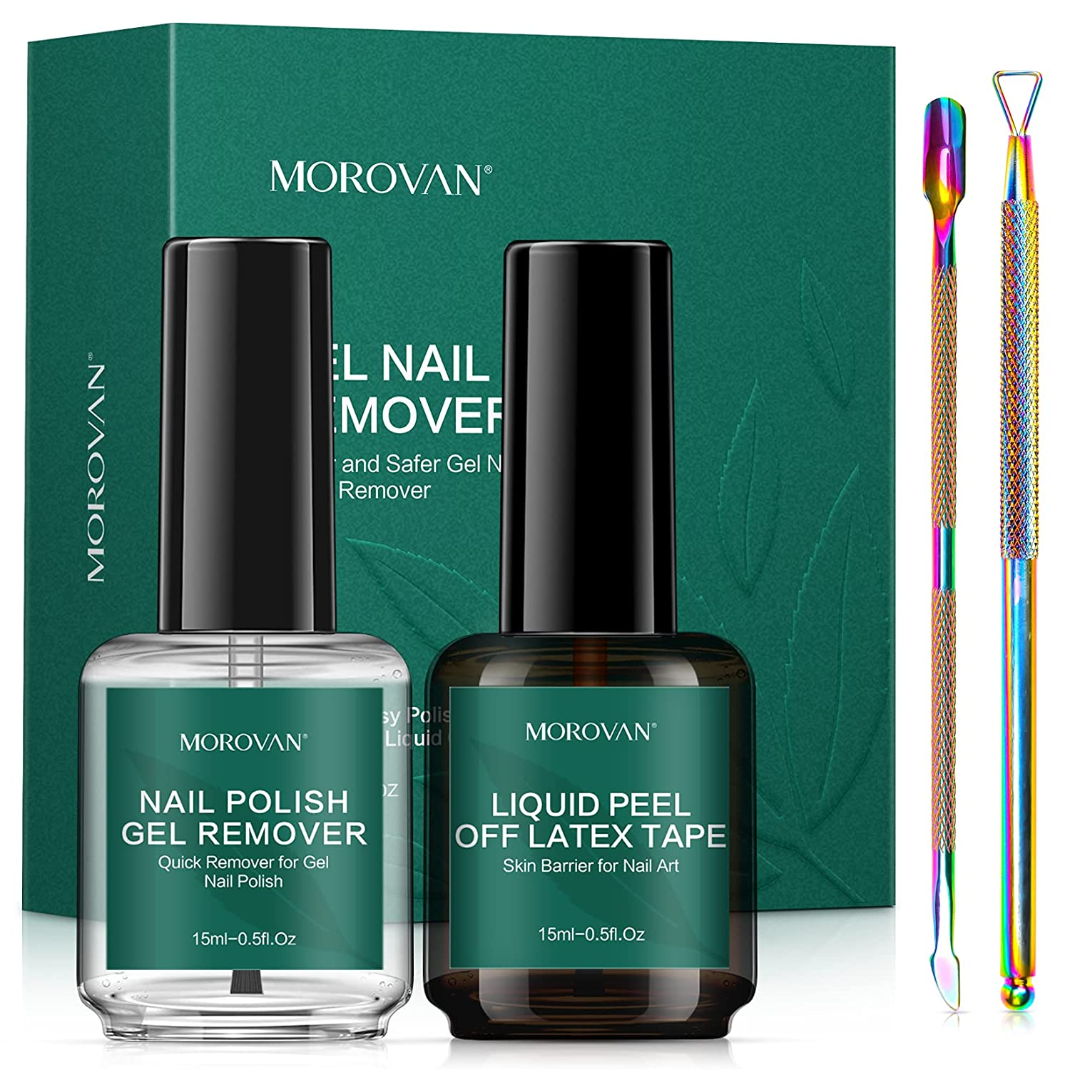 Morovan Gel Nail Polish Remover New product! New type Kit Pack New product Re 2 - Non-Acetone