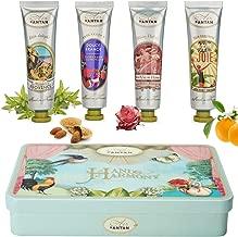 Deluxe 4 Hand Creams Beauty Gift Set, Shea Butter, Argan Oil, Aloe Vera|Perfume Verbena, Rose, Lily of the Valley, Almond Nourishing,Hydrating, Paraben Free 4x0.9 fl oz, Birthday Gift Idea