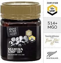Pure New Zealand Certified UMF 15+ Manuka Honey (8.8 oz)- All Blacks Official Licensed Honey
