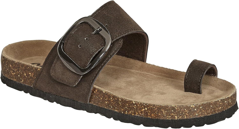 OUTWOODS Ladies Bork-63 Toe Loop Vegan Leather Sandals