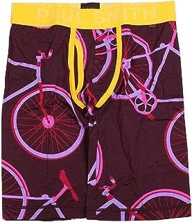【Paul Smith】ポールスミス 「POP」自転車プリントロングボクサーパンツ エンジ
