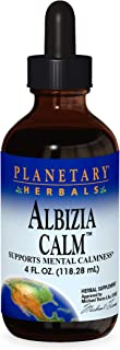 Planetary Herbals Albizia Calm, Helps Reduce Anxiety and Stress,4 Ounces