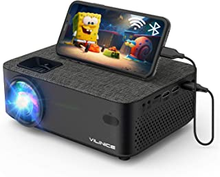 WiFi Projector,VILINICE 5000L Mini Outdoor Movie Projector ,Portable Phone Projector with Wireless Mirroring,1080P and 240...