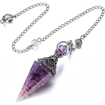 Personal power pendulum necklace amulet talismanquartz crystal pointlabradorite