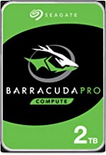 Seagate BarraCuda Pro 2TB Internal Hard Drive Performance HDD – 3.5 Inch SATA 6 Gb/s 7200 RPM 128MB Cache for Computer Desktop PC Laptop, Data Recovery – Frustration Free Packaging (ST2000DM009)