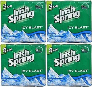 Irish Spring Bath Bar, Icy Blast 3.75 Oz, 12 Count 4pack of 3 Bar