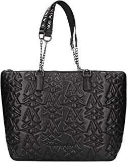 A|X Armani Exchange Stitched Logo Tote Bag, black