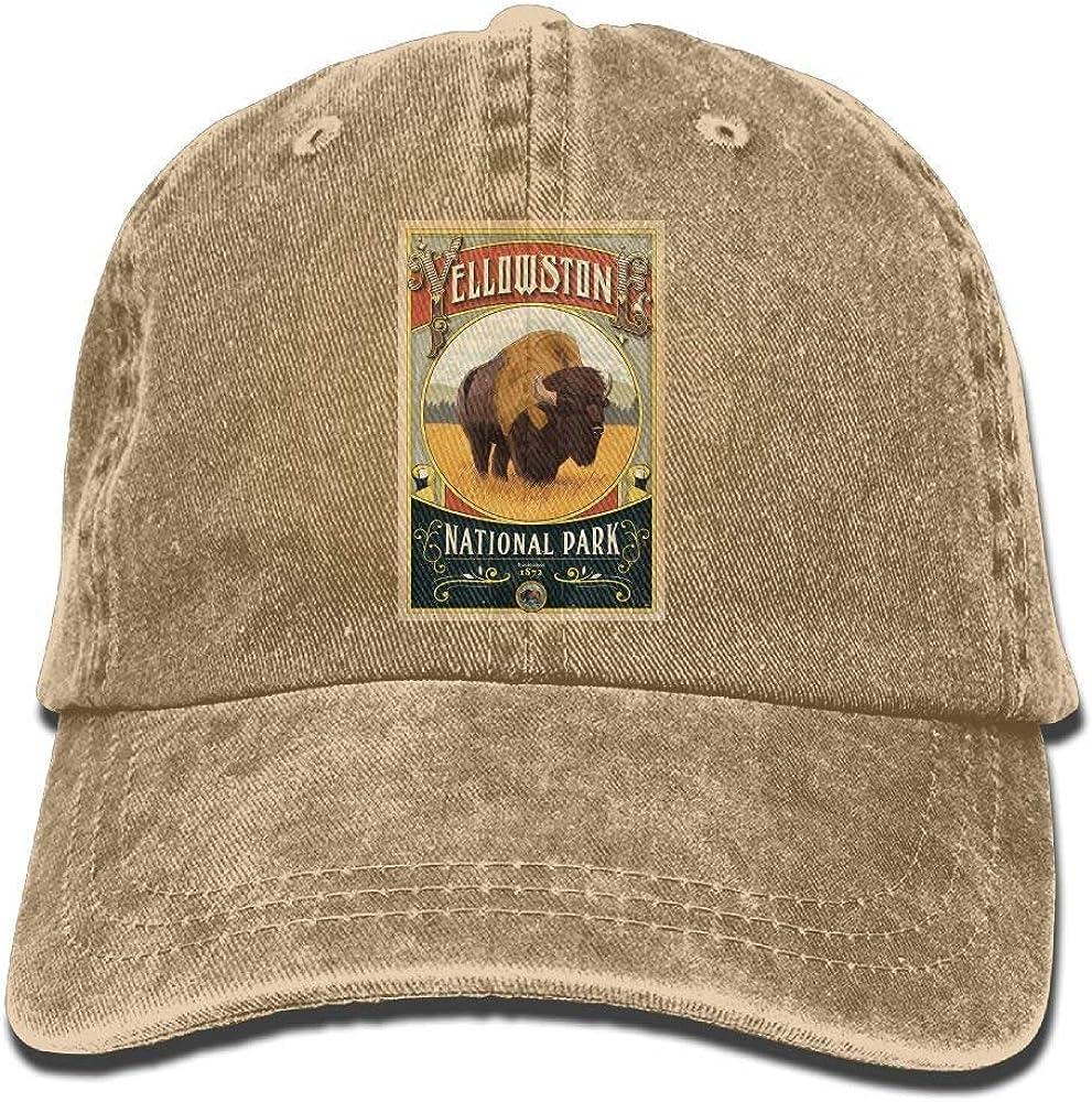 Yellowstone National Park Unisex Denim Cap Adjustable Baseball Max 49% OFF famous H