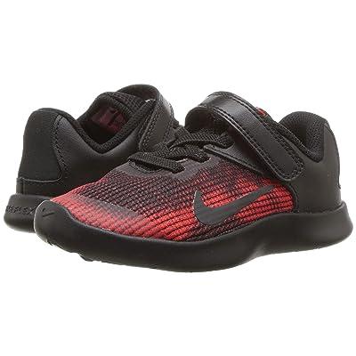 Nike Kids Flex RN 2018 (Infant/Toddler) (Black/Black/University Red/Team Red) Boys Shoes