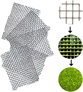 Luffy Moss Wall Mesh Kit (5 pcs) - Stainless Steel, Strong and Flexible, Enhance Aquarium with a Luscious Green Moss Wall or Moss Floor: Easy to Use with All Aquatic Plants Including Java and Pellia