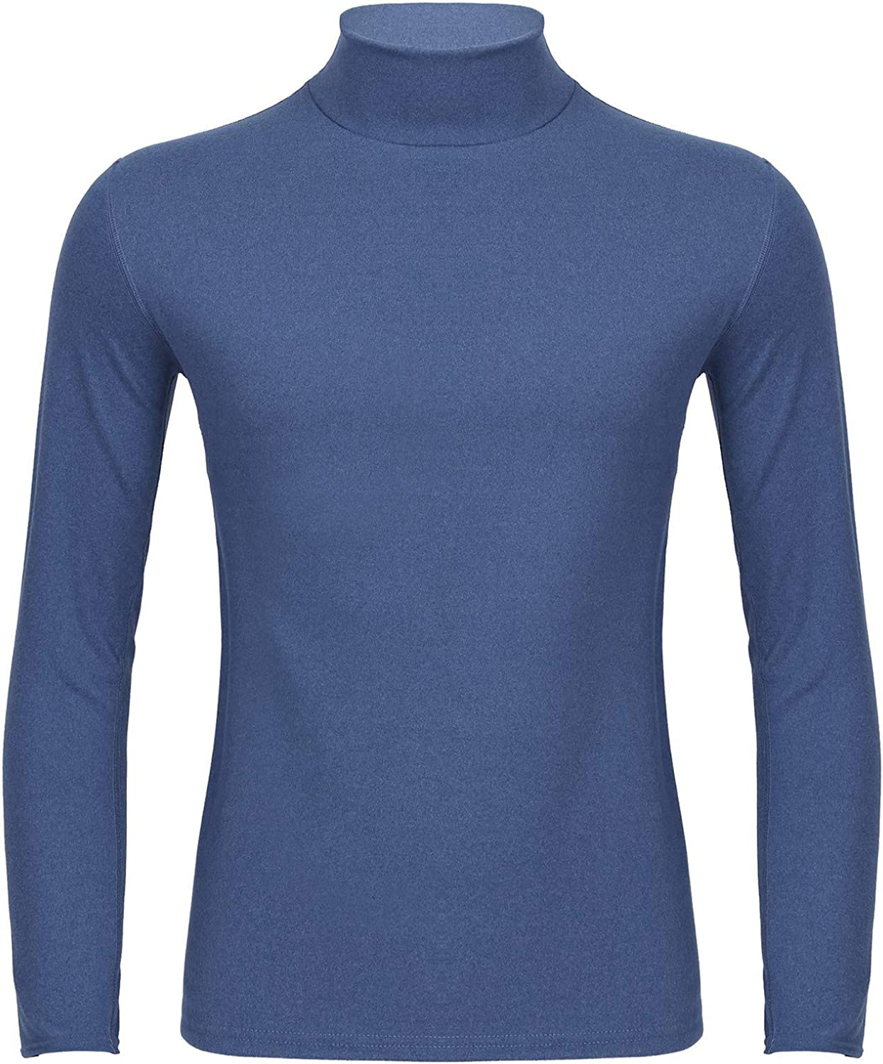 vastwit Men's Thermal Underwear Turtleneck Long Sleeve T-Shirts Casual Pollover Basic Tops