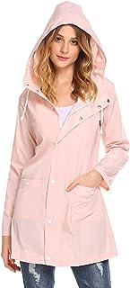 Womens Lightweight Raincoat Hooded Waterproof Active Outdoor Rain Jacket