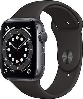 AppleWatch Series6 (GPS, 44 mm) Caja de aluminio en gris espacial - Correa deportiva negra