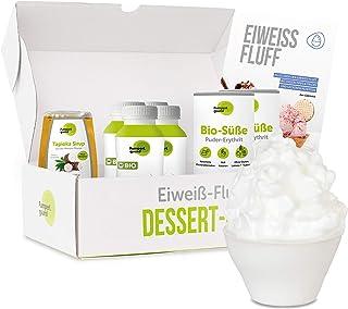 Pumperlgsund Eiweiß Fluff   Fluff Box für 24 Fluffs   Low Carb   Enthält flüssiges Eiweiß Eiklar, BIO Erythrit, Tapioka Sirup   Egg White gegen Heißhunger