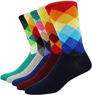 Calcetines Estampados Hombre Mujer Calcetines Ocasionales Divertidos Impresos de Algodón de Calcetines, Calcetines Colorido para Unisex