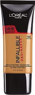 L'Oréal Paris Infallible Pro-Matte Liquid Longwear Foundation, Créme Café, 1 fl. oz.