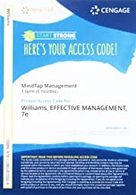 MindTap Management, 1 term (6 months) Printed Access Card for Williams' Effective Management, 7th