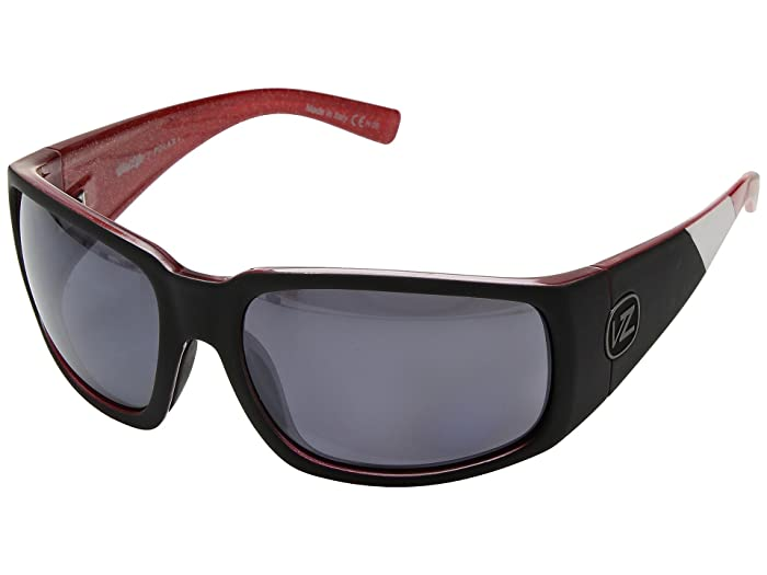 VonZipper Palooka Polarized (Mc Black/Red/Wild Silver Chrome Polar Plus) Sport Sunglasses