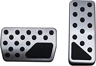 9 MOON Non-Slip Performance Foot Pedal Pads,Auto Aluminum Pedal Covers fit Jeep Grand Cherokee Dodge Durango 2011-2019 Accessories