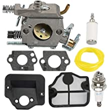 Allong Carburetor with Air Fuel Filter Tune Up Kit for Husqvarna 36 41 136 141 137 141 142 Chainsaw Parts Walbro WT-834 WT-657 WT-529 WT-289 WT-285 WT-239 WT-202