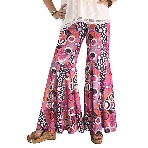c5191e48767 Groovy 60 s Hippie Bell Bottom Flared Costume Pants for Women