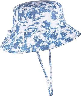 Adjustable Wide Brim Sun Hat - Summer Bucket Hat for Infant Toddler and Kids UPF 50+