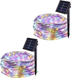 Jmexsuss 2 Pack Solar String Lights