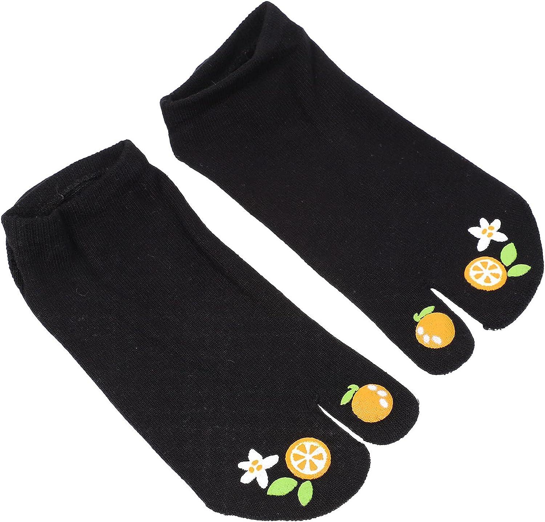 KESYOO Women Cotton Toe Socks Sweat Absorbing horseshoe Sandal Two Toe Socks Casual Flip Flops Socks Elastic Free Size