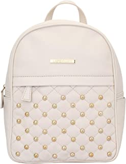 Lapis O Lupo Dong Repeat Women Backpack (Off White) Multi-functional pocket design