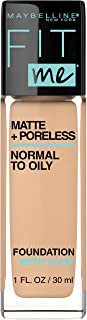 MAYBELLINE Fit Me Matte + Poreless Liquid Foundation Makeup, Warm Nude, 1 fl; oz; Oil-Free Foundation