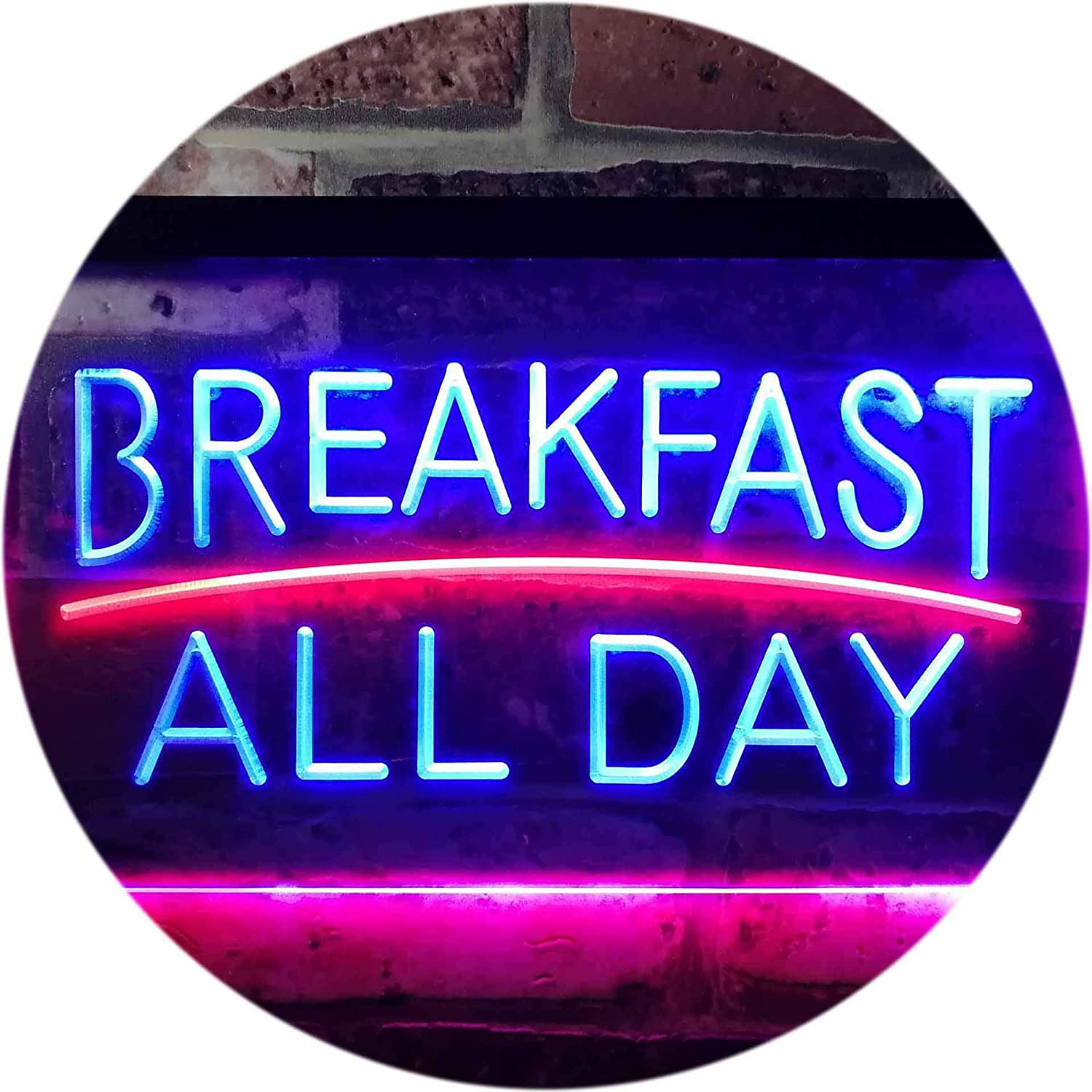 Breakfast All Day Open Restaurant Café Dual Farbe LED Barlicht Neonlicht Lichtwerbung Neon Sign rot & Blau 400mm x 300mm st6s43-i0311-rb