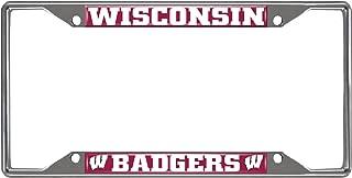 SLS Wisconsin Badgers Colored Metal License Plate Frame