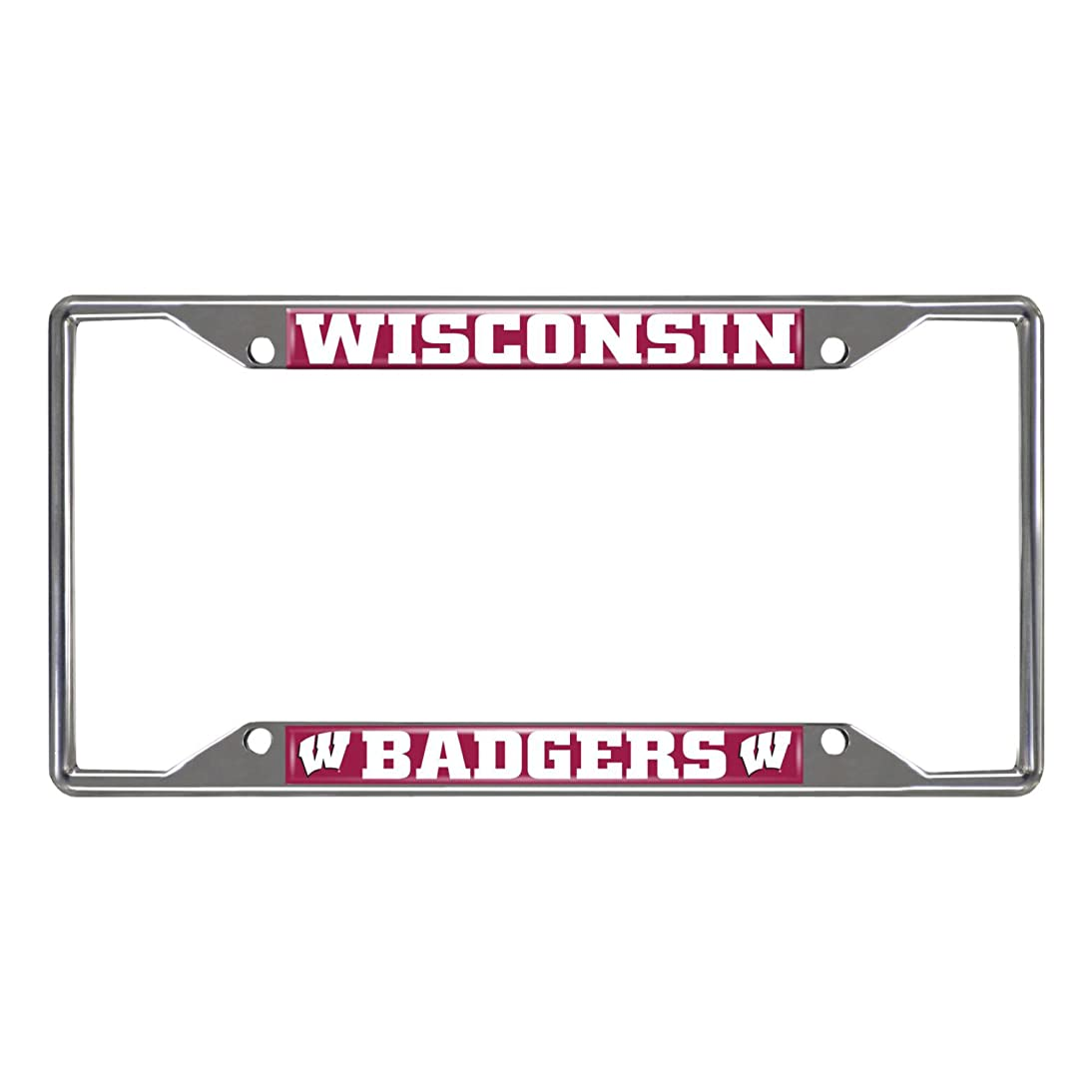 FANMATS NCAA University of Wisconsin Badgers Chrome License Plate Frame meob159029516699
