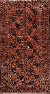 Antique Geometric 6x11 Balouch Afghanistan Afghan Oriental Runner Rug (10' 8'' X 5' 9'')