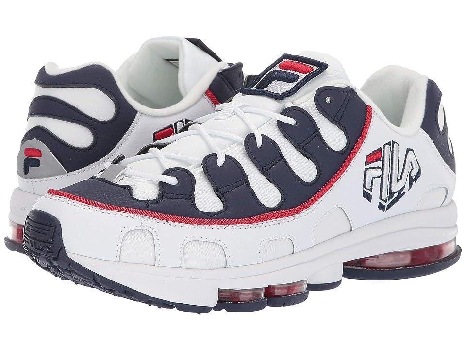 Fila Silva Trainer (White/Fila Navy/Fila Red) Men's Running Shoes