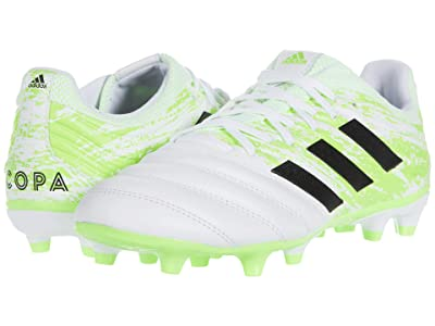 adidas Copa 20.3 FG (Footwear White/Core Black/Signal Green) Men