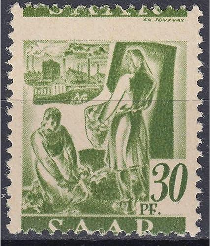 Goldhahn SAAR Nr. 217 postfrisch  verschobenes Markenbild Briefmarken für Sammler