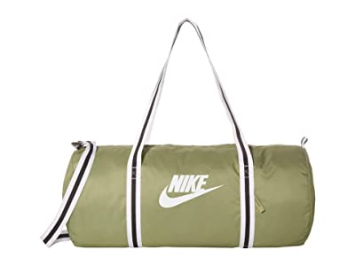 Nike Heritage Duffel Bag (Dusty Olive/Dusty Olive/White) Duffel Bags