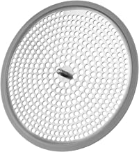 AmazerBath Shower Drain Hair Catcher with Fixed Screw, Stainless Steel Shower Drain Cover Strainer Hair Drain Protector for Bathroom Shower Stall - 1 Pack