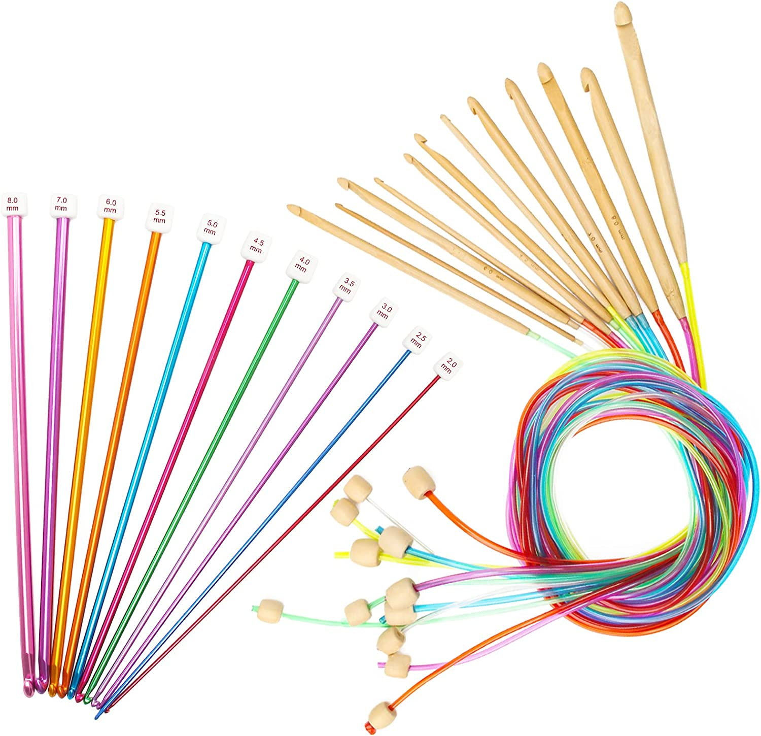 Tunisian At the Attention brand price of surprise Crochet Hooks Set 23 12 Colorful Pcs 3-10mm Luxiv